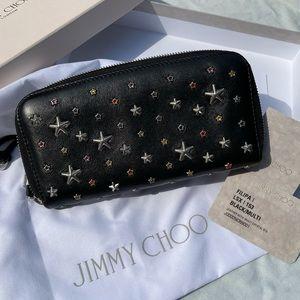 2️⃣2️⃣0️⃣Jimmy choo filipa black star wallet